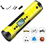 DHINGM Portable Tyre Inflator Chargeable Bicycles Electric Inflator Rechargeable Air Pressure Tyre Pump for Motorcycle Car Rubber Boats