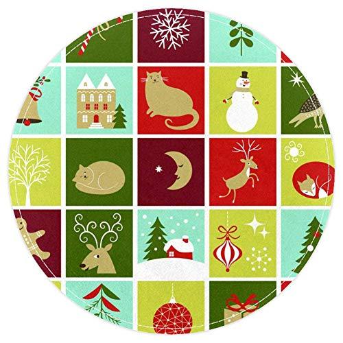 Colección de bonitos personajes de Navidad antideslizantes...