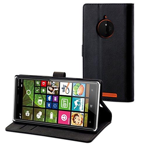 Muvit musli0610 S View-Custodia a Flip per Nokia Lumia 830, Design Sottile, Colore: Nero