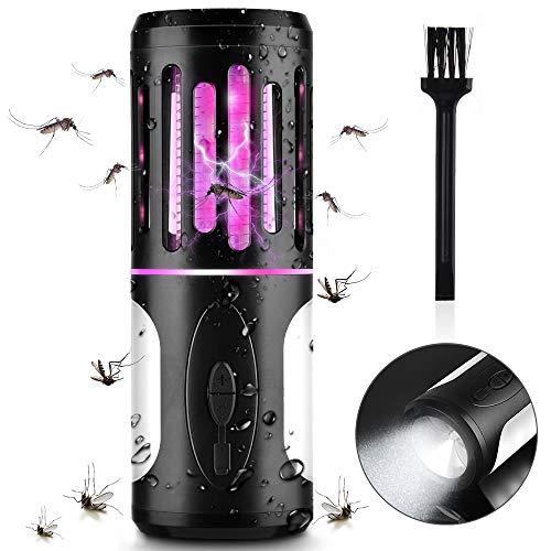 BASEIN UV Insektenvernichter, Elektrisch Mückenfalle, Bug Zapper, 2 in 1 Moskito Killer mit Camping Lampe gegen Mücken, Fliegen, Moskitos für Innen und Außen