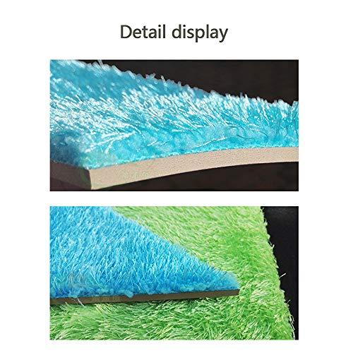 HYRL Fluff Soft Case Abnehmbare Selbstklebende Wandpolster Anti-Kollisions Wandaufkleber Wohnzimmer TV-Kulisse Schlafzimmer Kindergarten (Mehrfarbig, Dreieck),Blue