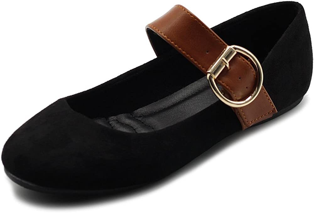 Raleigh Mall Ollio Women's Shoes Faux Suede Mary Jane Li On sold out Comfort Slip Belt