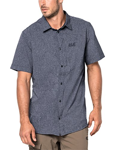 Jack Wolfskin Herren Hemd Barrel Shirt, Pebble Grey, M, 1402691-6505003