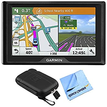 Garmin Drive 51 LM GPS Navigator with Driver Alerts USA  010-01678-0B  with 5 inch Universal GPS Navigation Protect and Stow Case & 1 Piece Micro Fiber Cloth