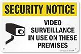 SmartSign 'Security Notice - Video Surveillance In Use On Premises' Sign | 12' x 18' Aluminum