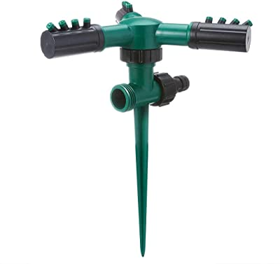 YHDSHOP Lawn Sprinkler, Underground Garden Sprinkler with Automatic 360 Rotation Adjustment, Dual Interface, can be Connected in Series. Coverage-Adjustable Garden Watering System.