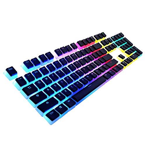Havit Keycaps 60 87 104 Double Shot Backlit PBT Pudding Keycap Set with Puller for DIY Cherry MX RGB...