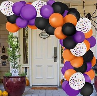 129 STKS Halloween zwart oranje paars latex ballonnen boog horror party decor voor Halloween thema feest achtergrond klasl...
