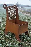 LD Rostalgie Edelrost Pflanz-Stuhl Ornament Gartendekoration Metall Pflanzgefäß