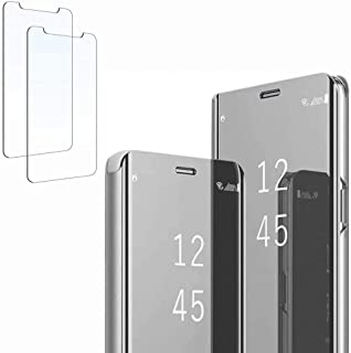 Dalchen for Huawei Honor 30S Mirror Flip Case, Kickstand,Smart Clear View Electroplate Shockproof Full Body Protective Pho...