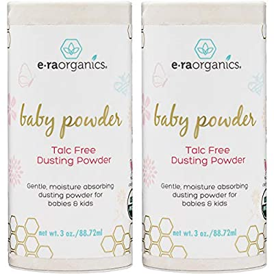 Baby Powder - (2 pack) USDA Certified Organic Dusting Powder Non-GMO, Cruelty Free, Natural and Organic Baby Products Era-Organics