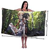 Sword Art Online Toallas de baño De Gran tamaño Ligero Suave Toalla de Playa Altamente Absorbente Yoga Viajes Camping Gimnasio Toallas de Piscina