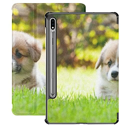 Funda para Galaxy Tab S7 Funda Delgada y Ligera con Soporte para Tableta Samsung Galaxy Tab S7 de 11 Pulgadas Sm-t870 Sm-t875 Sm-t878 2020 Release,Adorable Pembroke Welsh Corgi Puppy Sittind