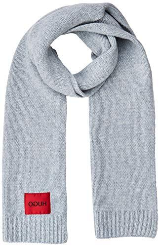 HUGO Herren Schal Zaff 2, Grau (Medium Grey 035 ), One Size (Herstellergröße: Einheitsgröße)
