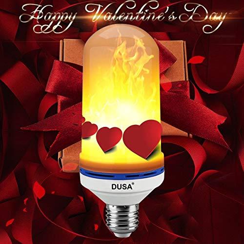 DUSA Flame Bulb, LED Flame Effect Light Bulb,E26 LED Flickering Flame Light Bulbs,Simulated...