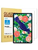 [2-Pack] apiker Screen Protector Compatible with Samsung Galaxy Tab S7 Plus 12.4 Inch, 9H Hardness Tempered Glass with S Pen Compatible, Bubble Free