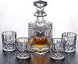 Decantador de vino, Whisky Decanter Crystal Tumbler Glasses Whisky Decanter...
