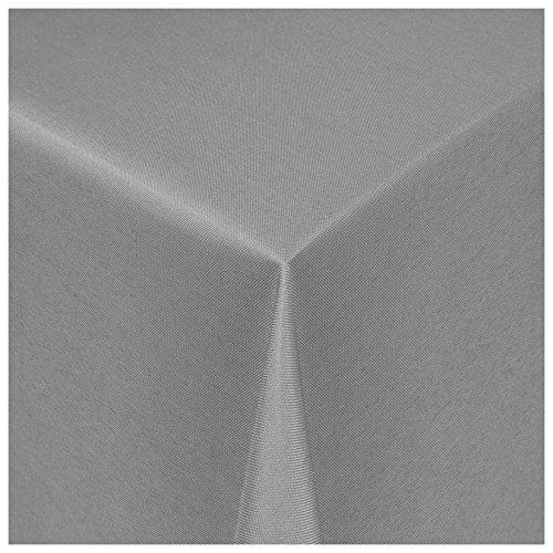 MODERNO® Textil Tischdecke Uni Design | eckig 80x80 cm in Grau Damast | Eckig Oval Rund Größe und Farbe wählbar