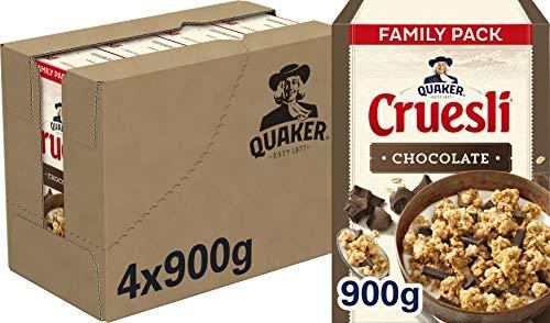 Quaker Cruesli Chocolade, doos 4 stuks x 900g