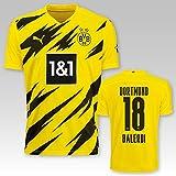 PUMA BVB Heimtrikot Kinder Saison 2020/21, Größe:128, Spielername:18 Balerdi