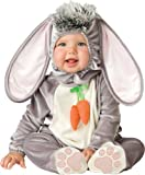 Lil Characters Unisex-baby Newborn Infant Rabbit Costume, Grey/White/Pink, Small