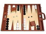 48 x 64 cm Premium-Backgammon-Set - Desert Brown -