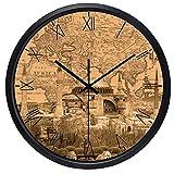 GRENSS Reloj de la marca Hotel Lobby Roma NR. World Places of Interest de papel Kraft color Estambul Blue Mosque_China 12 pulgadas