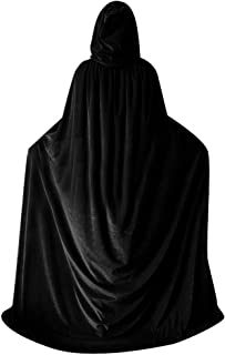 Unisex Halloween Christmas Velvet Cloak Witch Costume Hooded Party Raven Cosplay Capes