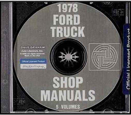 1978 FORD PICKUP & TRUCK FACTORY REPAIR SHOP & SERVICE MANUAL CD - F100, F150, F250, F350, BRONCO 78