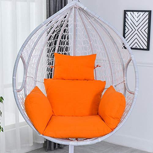 Miwaimao Garden Terrace Cradle Soft Cushion Washing Hanging Hammock Swing Hanging Chair Cushion Thicker Cushion,Orange,United States