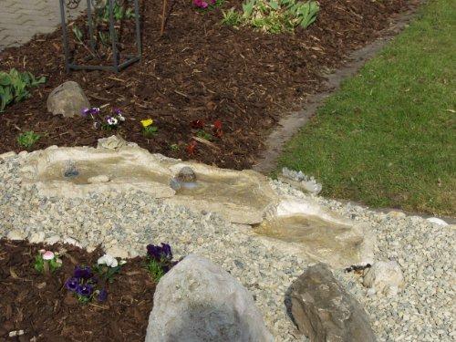 Wasserkaskaden Quellschale Eder Quelle, Beige/Braun, 53 x 40 x 8 cm - 2