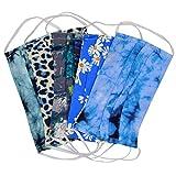 Hochwertiges 5PCS Tie-Dye Bedruckte Baumwoll Mundschutz Staubschutz mit,Mode bunt Einkaufen waschbar und wiederverwendbar Elastische Ohrschlaufe,atmungsaktiv Anti Verschmutzung-für Männer,Frauen