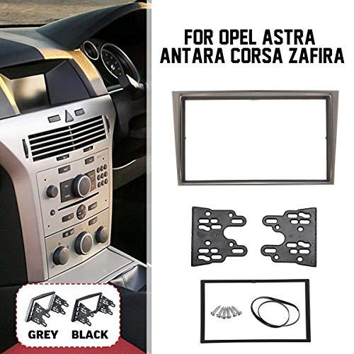 2 Din Car Marco Del Panel Radio Fascia CD DVD Audio Dash Cubierta Audio Recorte For Opel Astra Ajuste For Antara Corsa Zafira (Color Name : Black)