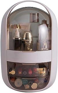 Hamkaw Makeup Organizer with Drawers, Large Modern Countertop Cosmetic Organizer Makeup Storage Holder Dustproof & Waterproof Makeup Brush Lipstick Jewelry Perfume Display Box