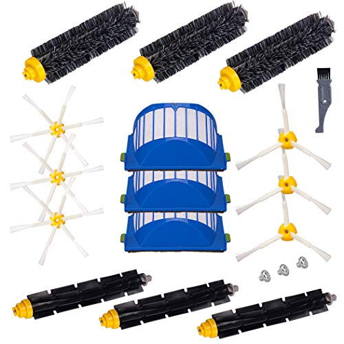 I-clean Replacement iRobot Roomba Parts,15 Packs Accessories Kits for Roomba 690 675 650 620 630 595 585 564 552(Not for 645 655)