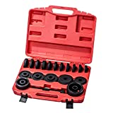 HFS (R 23-Pieces FWD Front Wheel Drive Bearing Adapters Puller Press Replacement Installer Removal Tool Kit