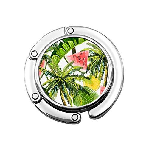 Gancho de monedero hermoso patrón floral de verano plegable bolso de la tabla percha colección-escritorio ganchos