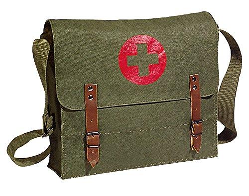 Olive Drab Vintage Look Army Red Cross Medic Shoulder Messenger Bag