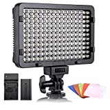 ESDDI - Luz LED fotográfica, luz de vídeo, 176 LED Regulables superluminosos 3200-5600 K, 5...