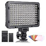 ESDDI - Luz LED fotográfica, luz de vídeo, 176 LED Regulables superluminosos 3200-5600K, 5...
