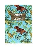 Cuaderno de salud impreso – Fabricación francesa – Niño/adulto multicolor Blanc imprimé dinosaures Talla:22 x 16 x 0,5 cm