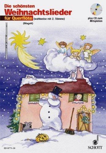 Die schönsten Weihnachtslieder (+CD) für 1-2 Querflöten (mit Text) - Dieses Heft für Flötenschüler enthält die schönsten Weihnachtslieder in sehr leichten Bearbeitungen für Flöte, zu der wahlweise auch eine 2. Stimme gespielt werden kann. Noten/sheet music