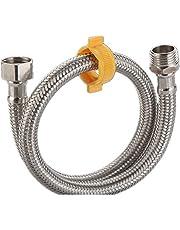 YHDM Tubo Trenzado de Metal de Acero Inoxidable,Manguera blindada,Utilizado para baño,Inodoro,conexión de Agua de Cocina,Resistente al Estiramiento,no es fácil de deformar(15mm*1/2pulgada)