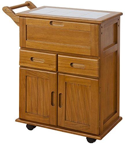 天然木フラップ式キッチンワゴン OSK-T016