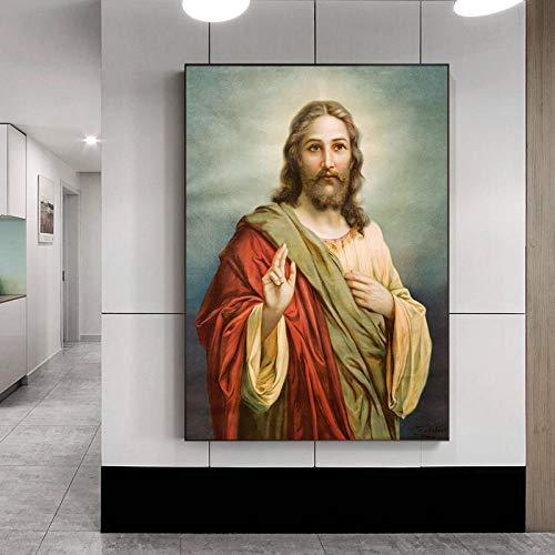 Y-fodoro Rompecabezas de Jesús Rompecabezas, 1000 Piezas Cristo Pintura al óleo Adultos Rompecabezas de Madera, Hombres Mujeres Niños Adultos Niños Arte de Pared Regalos
