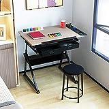IVNZEI Laptoptisch Folding Kindertisch 'Hubtisch Multifunktionsbank Tisch Schwarz Tisch Und