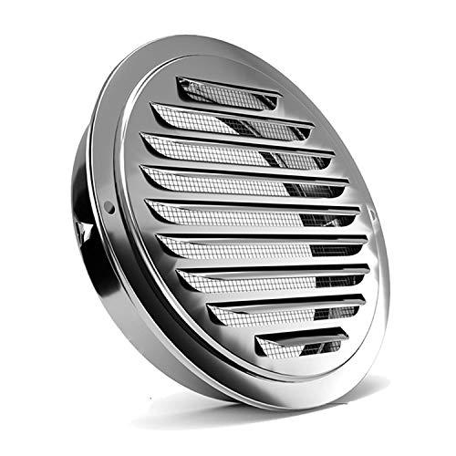 Rejillas de ventilación de acero inoxidable, ventilación de ventilación de pared con rejilla de ventilación plana y malla de mosquitera