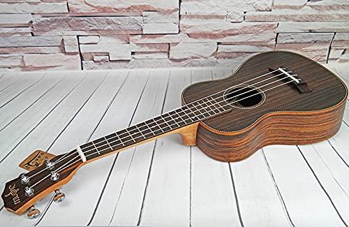 PPuujia Guitarra pop, concierto, tenor, acústico, eléctrico, ordinario, ukelele de palisandro, inserción...