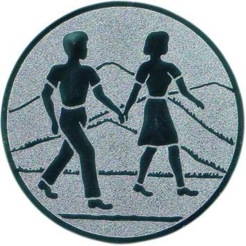 Pokal Emblem Wandern - 50 mm/bronze