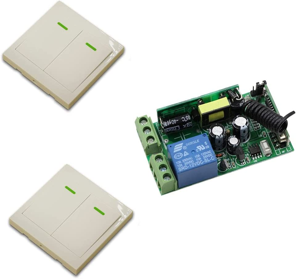 Max 88% OFF Miami Mall AC 85V-250V Wireless Remote Switch 1CH System Wal Relay Receiver